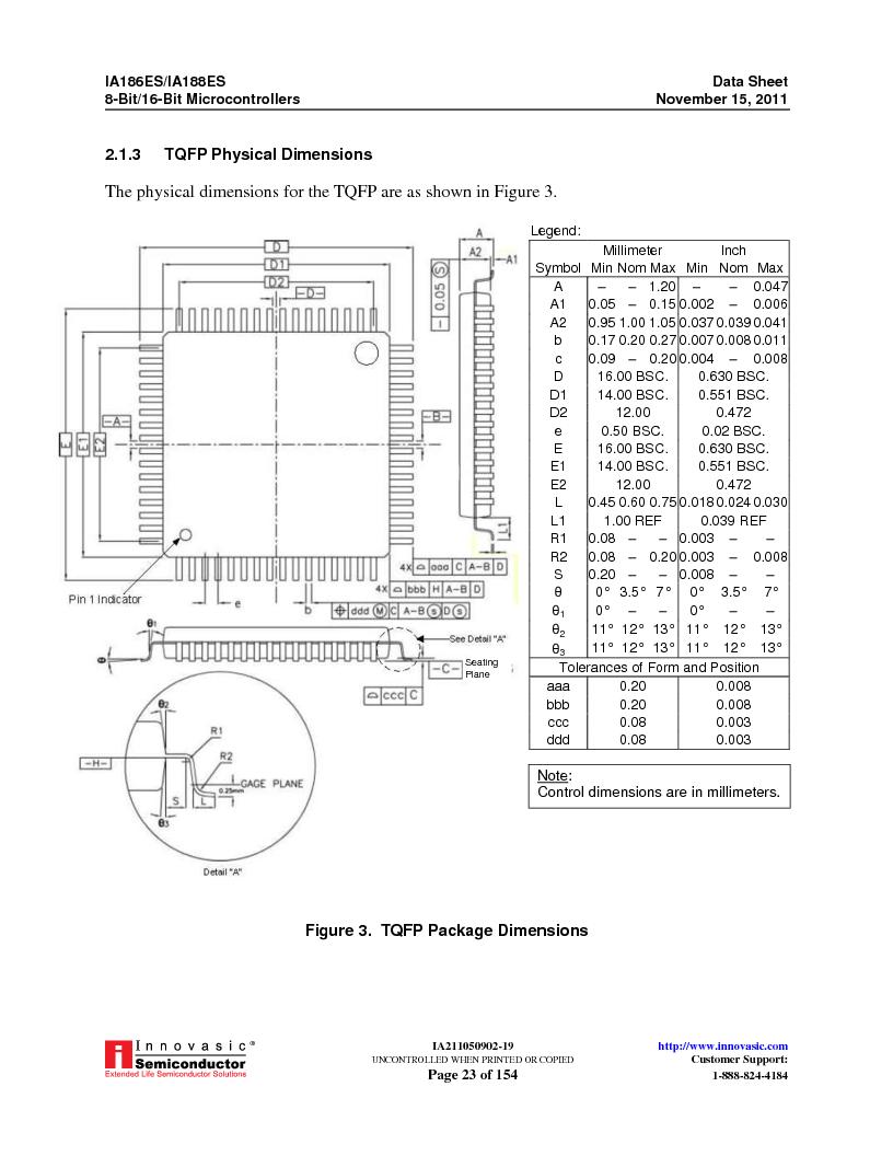 IA188ES-PTQ100I-R-03 ,Innovasic Semiconductor厂商,IC MCU 8/16BIT 40MHZ 100TQFP, IA188ES-PTQ100I-R-03 datasheet预览  第23页