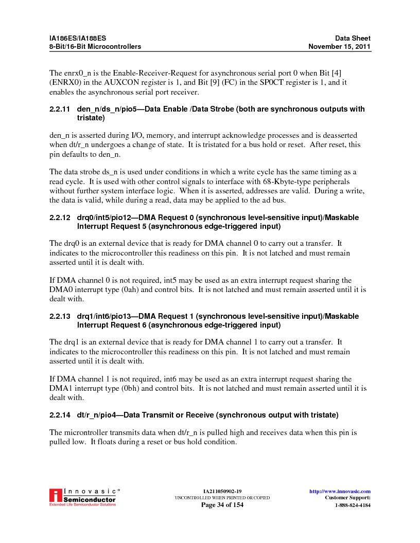 IA188ES-PTQ100I-R-03 ,Innovasic Semiconductor厂商,IC MCU 8/16BIT 40MHZ 100TQFP, IA188ES-PTQ100I-R-03 datasheet预览  第34页