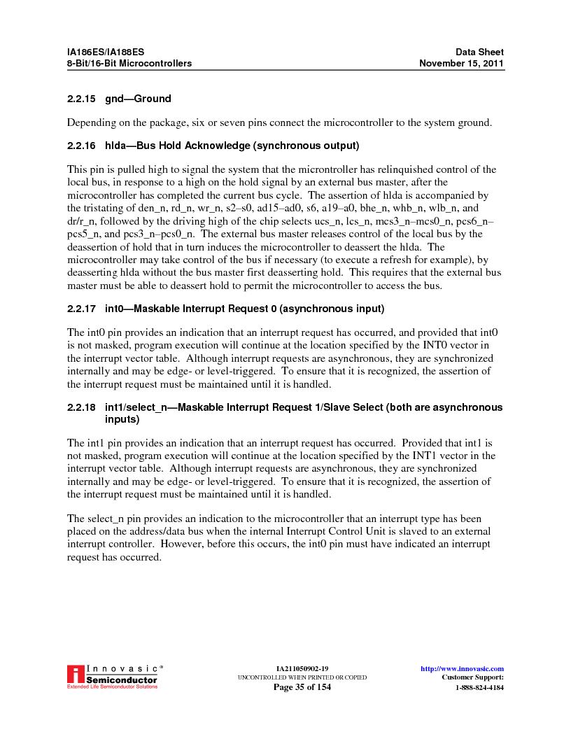 IA188ES-PTQ100I-R-03 ,Innovasic Semiconductor厂商,IC MCU 8/16BIT 40MHZ 100TQFP, IA188ES-PTQ100I-R-03 datasheet预览  第35页
