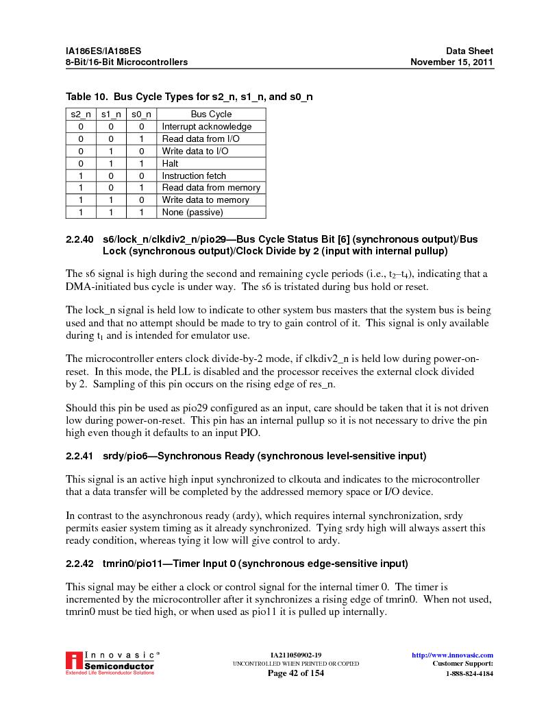 IA188ES-PTQ100I-R-03 ,Innovasic Semiconductor厂商,IC MCU 8/16BIT 40MHZ 100TQFP, IA188ES-PTQ100I-R-03 datasheet预览  第42页