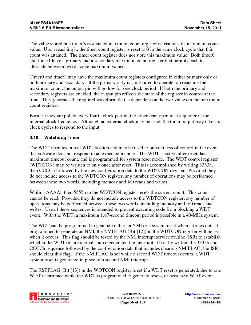 IA188ES-PTQ100I-R-03 ,Innovasic Semiconductor厂商,IC MCU 8/16BIT 40MHZ 100TQFP, IA188ES-PTQ100I-R-03 datasheet预览  第56页