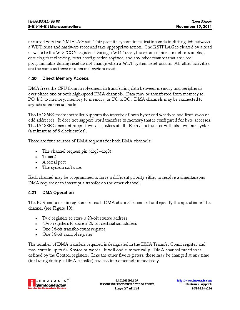 IA188ES-PTQ100I-R-03 ,Innovasic Semiconductor厂商,IC MCU 8/16BIT 40MHZ 100TQFP, IA188ES-PTQ100I-R-03 datasheet预览  第57页