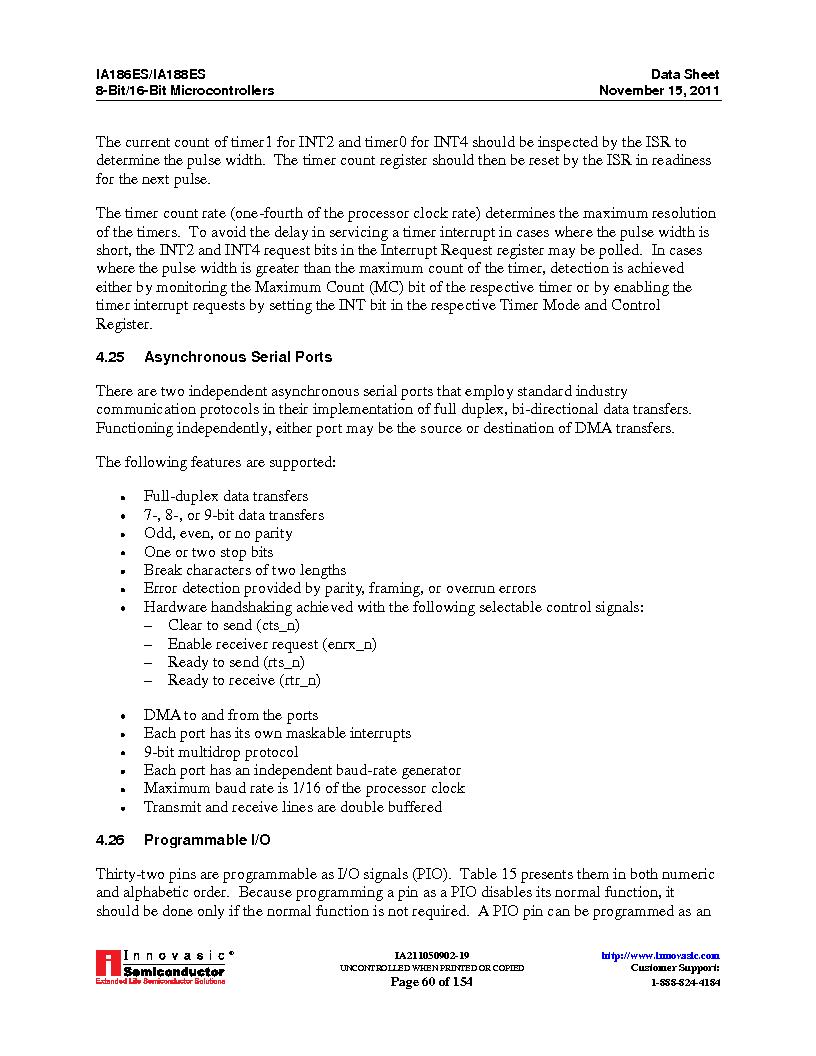 IA188ES-PTQ100I-R-03 ,Innovasic Semiconductor厂商,IC MCU 8/16BIT 40MHZ 100TQFP, IA188ES-PTQ100I-R-03 datasheet预览  第60页