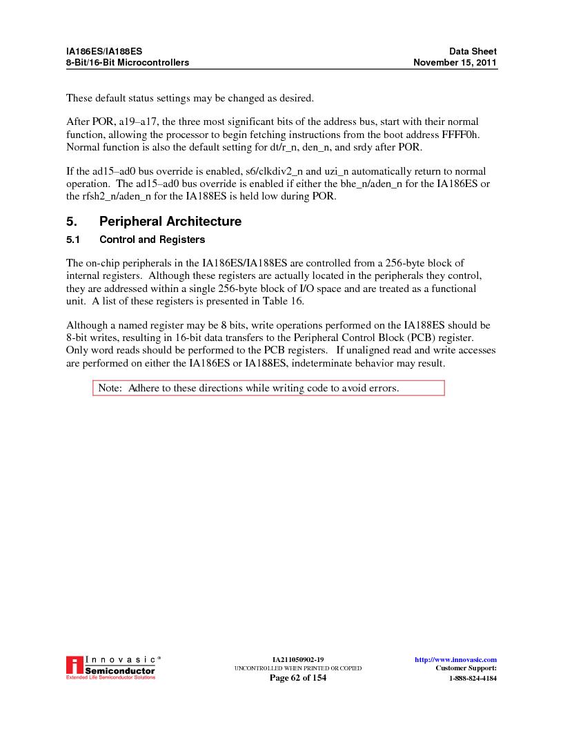 IA188ES-PTQ100I-R-03 ,Innovasic Semiconductor厂商,IC MCU 8/16BIT 40MHZ 100TQFP, IA188ES-PTQ100I-R-03 datasheet预览  第62页
