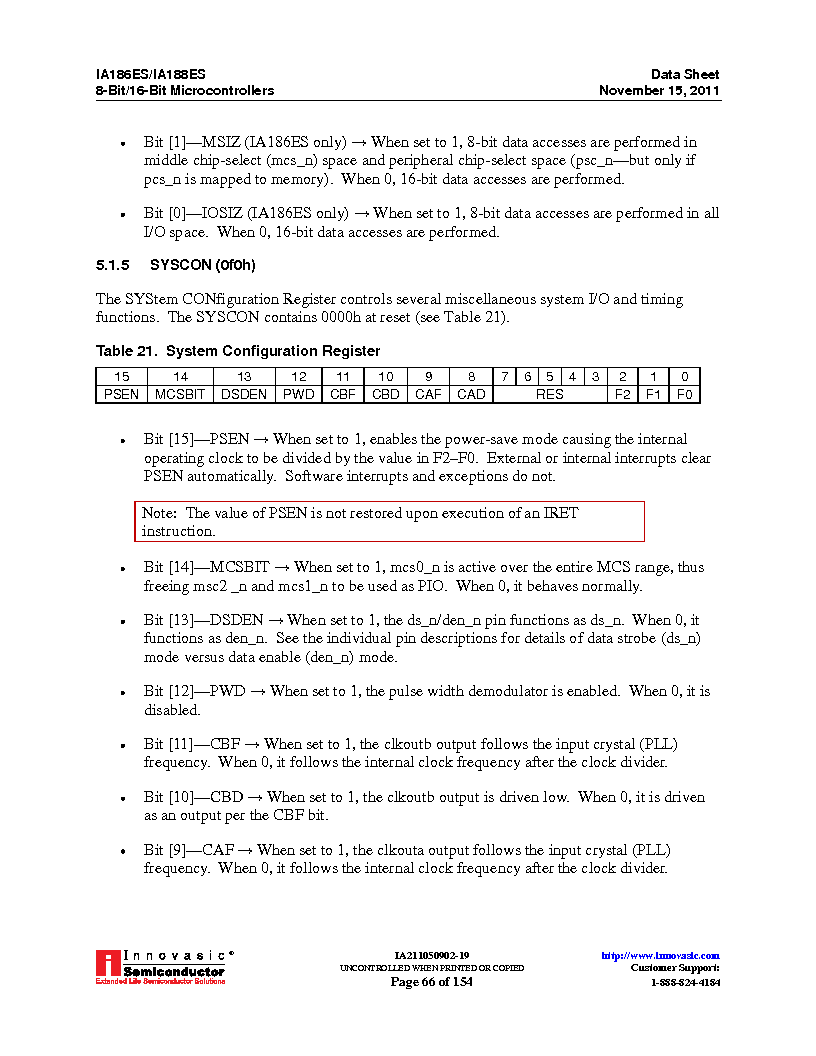 IA188ES-PTQ100I-R-03 ,Innovasic Semiconductor厂商,IC MCU 8/16BIT 40MHZ 100TQFP, IA188ES-PTQ100I-R-03 datasheet预览  第66页