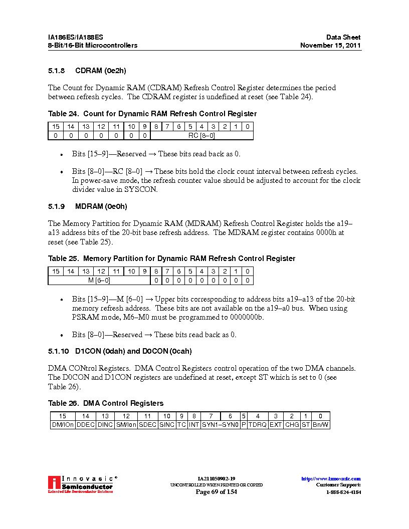 IA188ES-PTQ100I-R-03 ,Innovasic Semiconductor厂商,IC MCU 8/16BIT 40MHZ 100TQFP, IA188ES-PTQ100I-R-03 datasheet预览  第69页