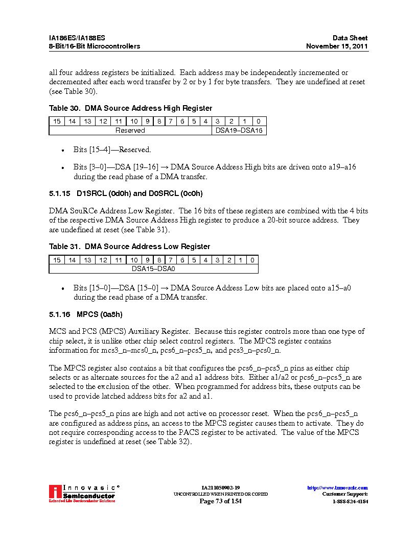 IA188ES-PTQ100I-R-03 ,Innovasic Semiconductor厂商,IC MCU 8/16BIT 40MHZ 100TQFP, IA188ES-PTQ100I-R-03 datasheet预览  第73页
