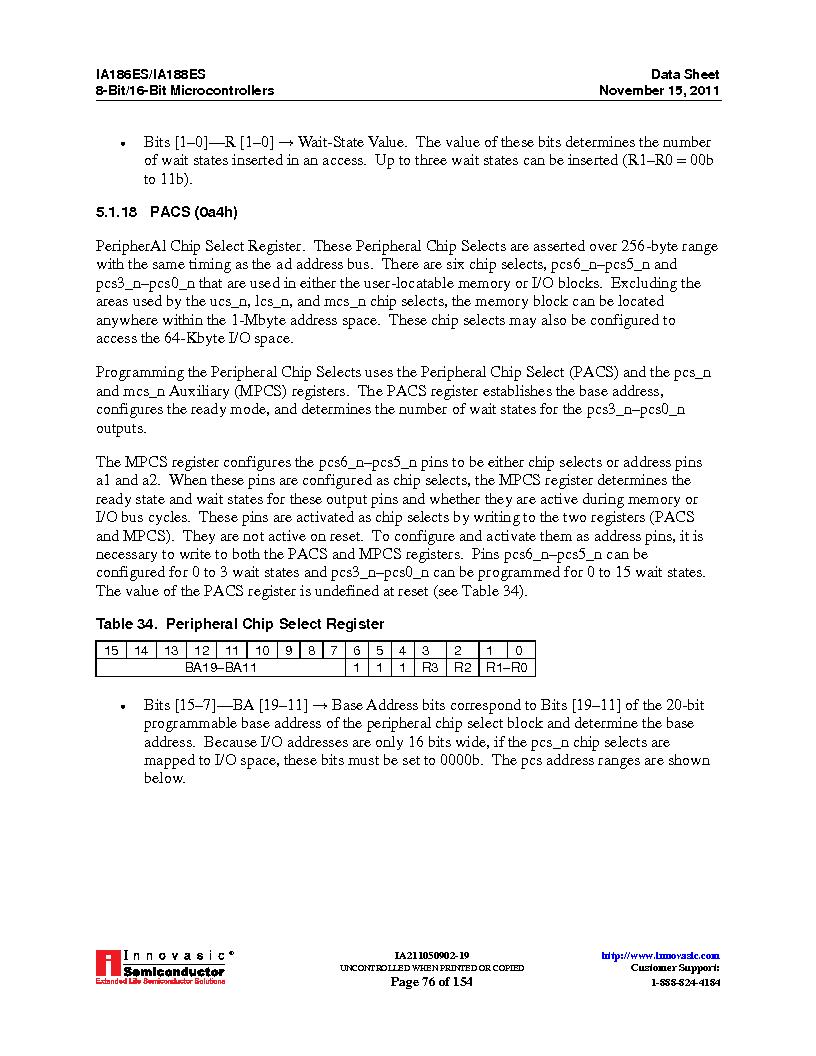IA188ES-PTQ100I-R-03 ,Innovasic Semiconductor厂商,IC MCU 8/16BIT 40MHZ 100TQFP, IA188ES-PTQ100I-R-03 datasheet预览  第76页