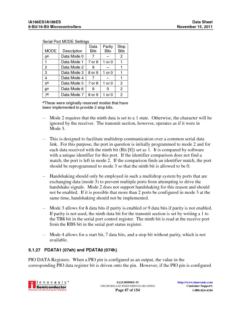 IA188ES-PTQ100I-R-03 ,Innovasic Semiconductor厂商,IC MCU 8/16BIT 40MHZ 100TQFP, IA188ES-PTQ100I-R-03 datasheet预览  第87页