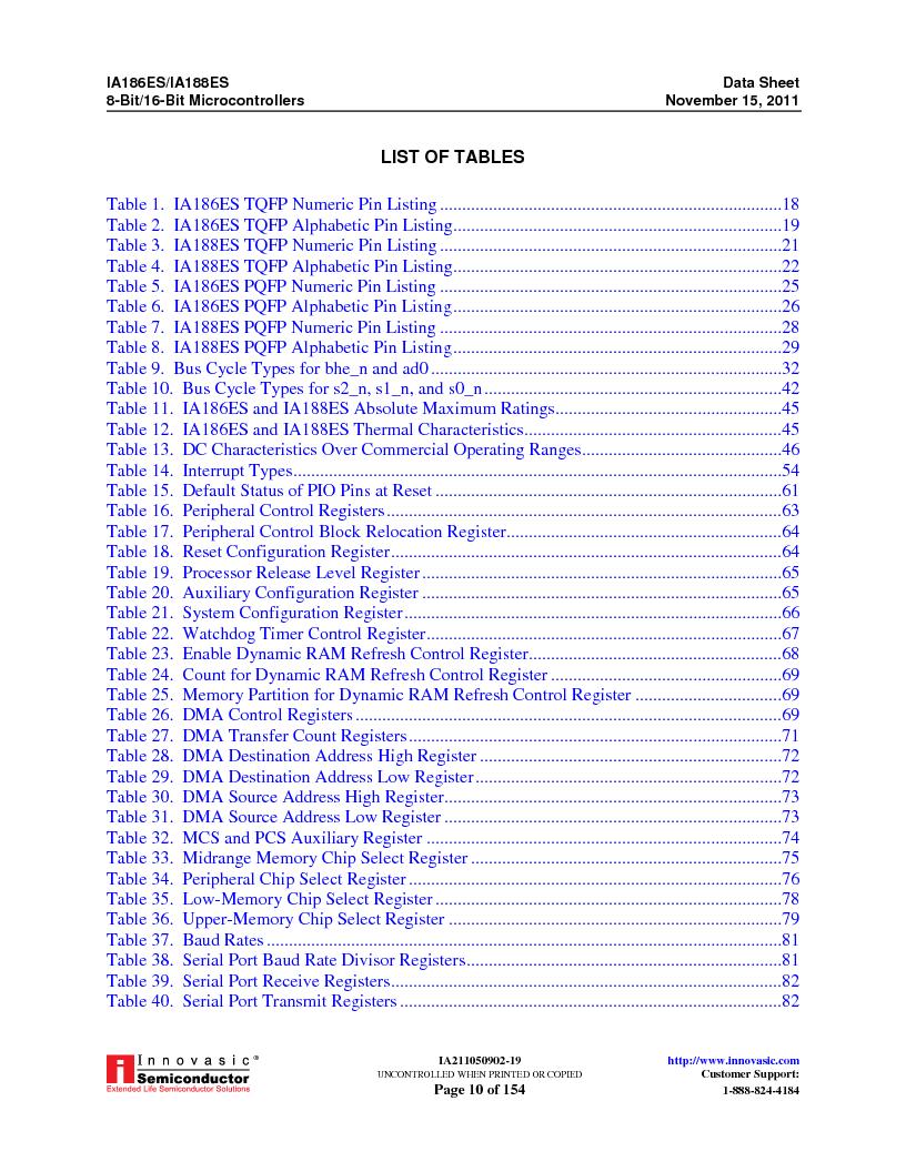 IA188ES-PTQ100I-R-03 ,Innovasic Semiconductor厂商,IC MCU 8/16BIT 40MHZ 100TQFP, IA188ES-PTQ100I-R-03 datasheet预览  第10页