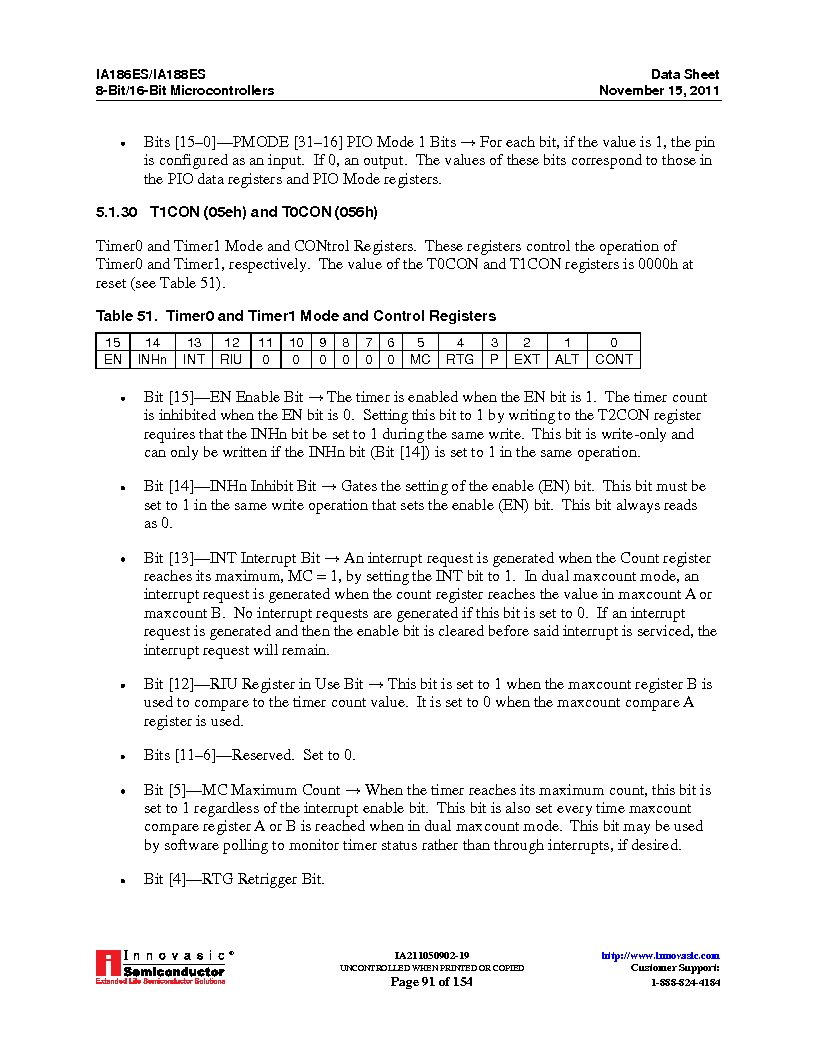 IA188ES-PTQ100I-R-03 ,Innovasic Semiconductor厂商,IC MCU 8/16BIT 40MHZ 100TQFP, IA188ES-PTQ100I-R-03 datasheet预览  第91页