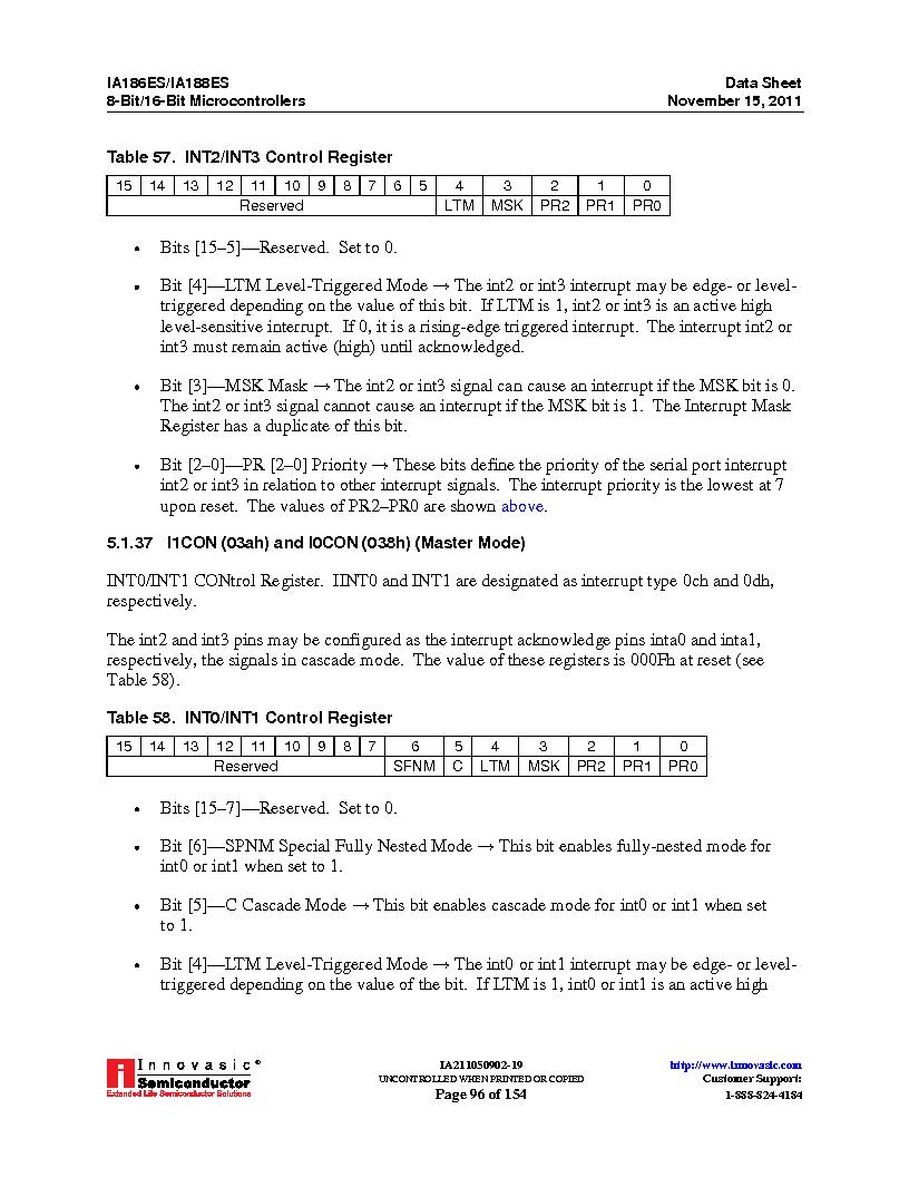 IA188ES-PTQ100I-R-03 ,Innovasic Semiconductor厂商,IC MCU 8/16BIT 40MHZ 100TQFP, IA188ES-PTQ100I-R-03 datasheet预览  第96页