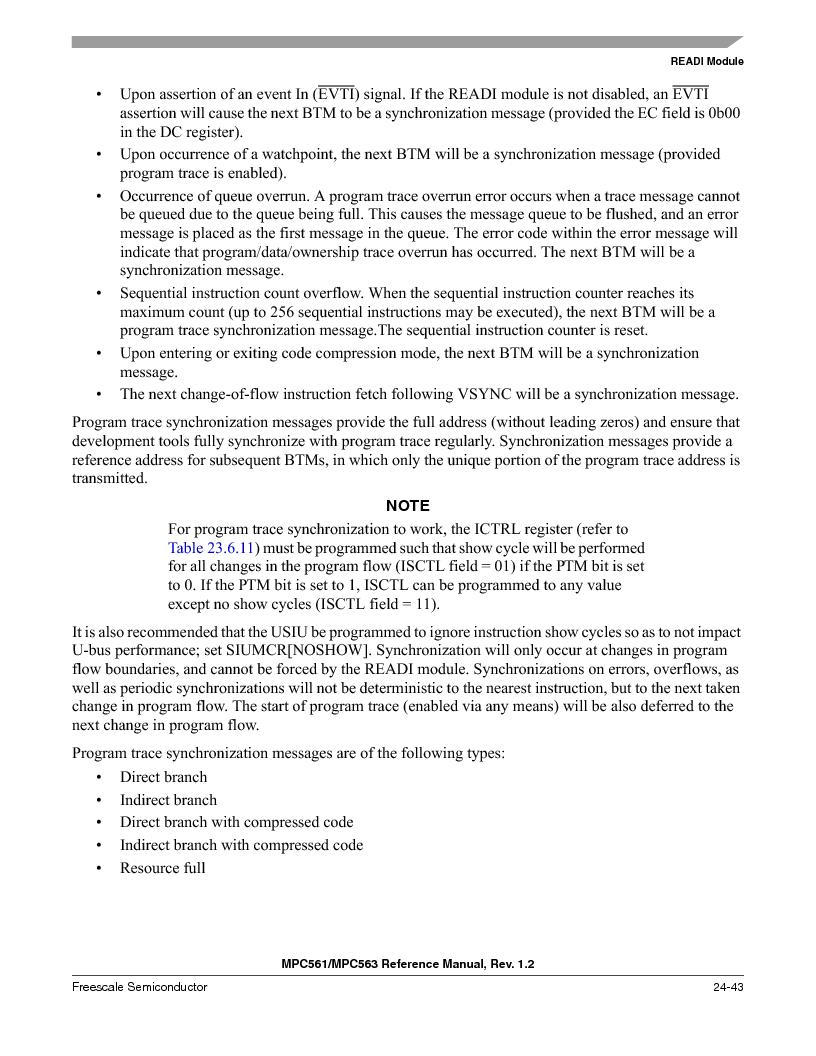 MPC563MZP56 ,Freescale Semiconductor厂商,IC MCU 512K FLASH 56MHZ 388-BGA, MPC563MZP56 datasheet预览  第1011页