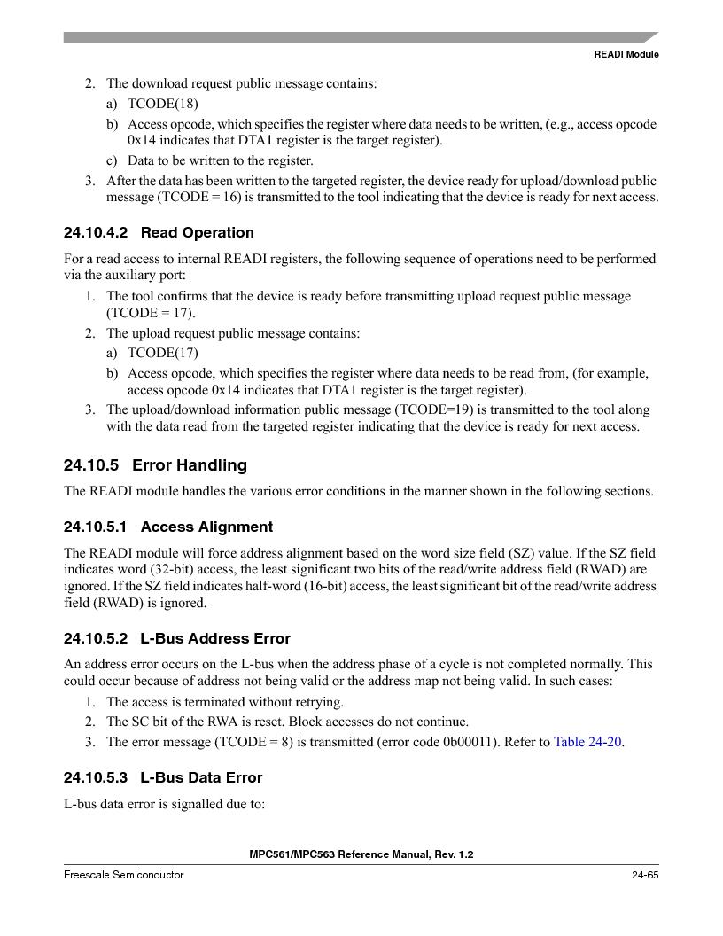 MPC563MZP56 ,Freescale Semiconductor厂商,IC MCU 512K FLASH 56MHZ 388-BGA, MPC563MZP56 datasheet预览  第1033页