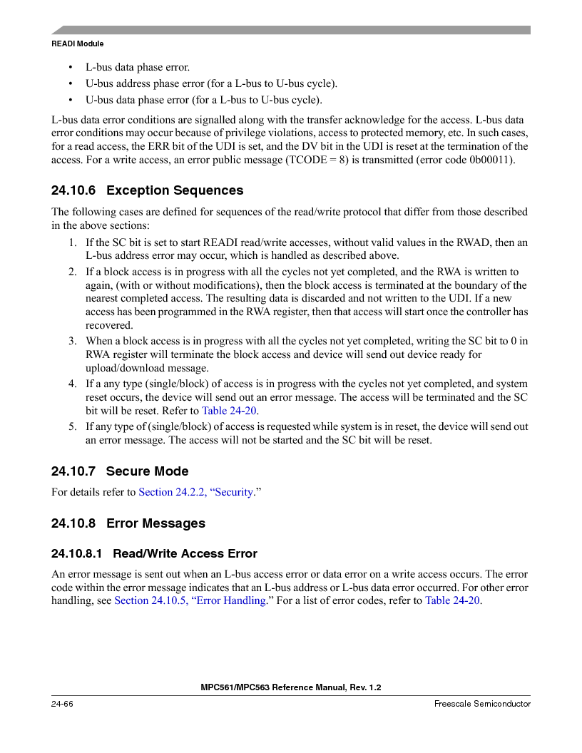 MPC563MZP56 ,Freescale Semiconductor厂商,IC MCU 512K FLASH 56MHZ 388-BGA, MPC563MZP56 datasheet预览  第1034页
