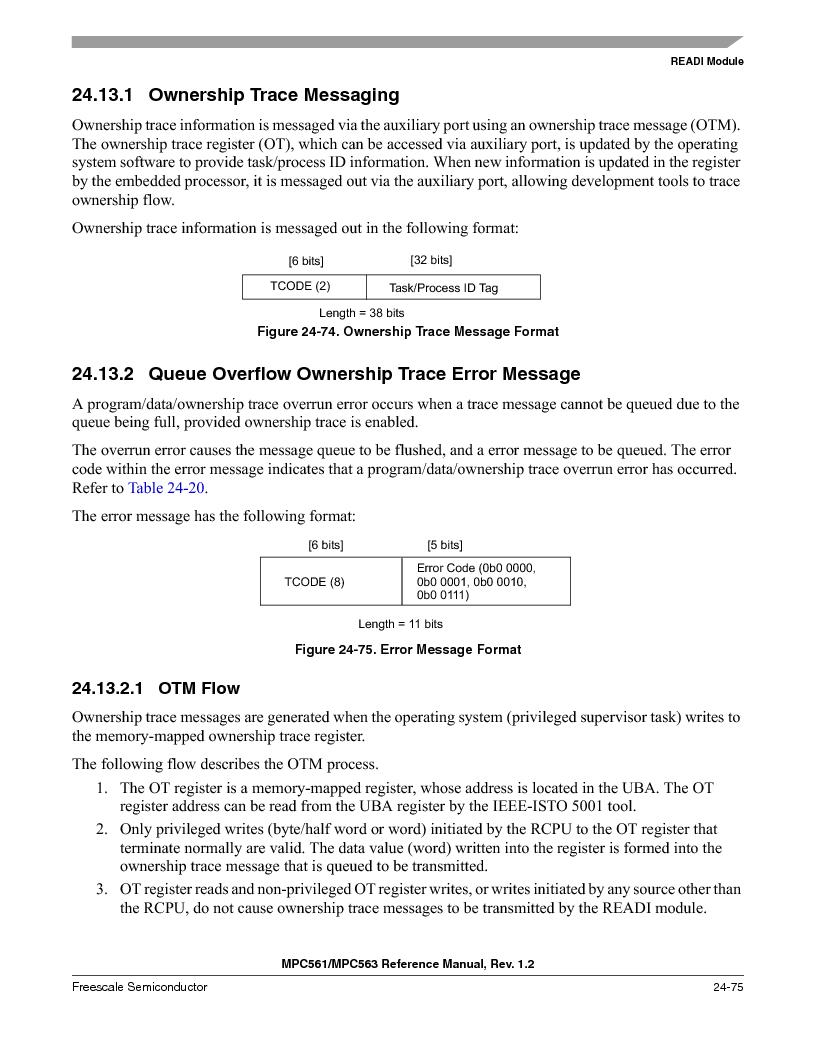 MPC563MZP56 ,Freescale Semiconductor厂商,IC MCU 512K FLASH 56MHZ 388-BGA, MPC563MZP56 datasheet预览  第1043页