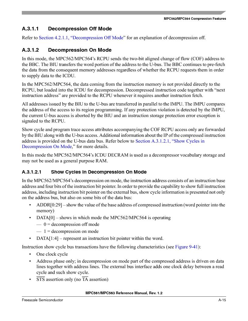MPC563MZP56 ,Freescale Semiconductor厂商,IC MCU 512K FLASH 56MHZ 388-BGA, MPC563MZP56 datasheet预览  第1103页