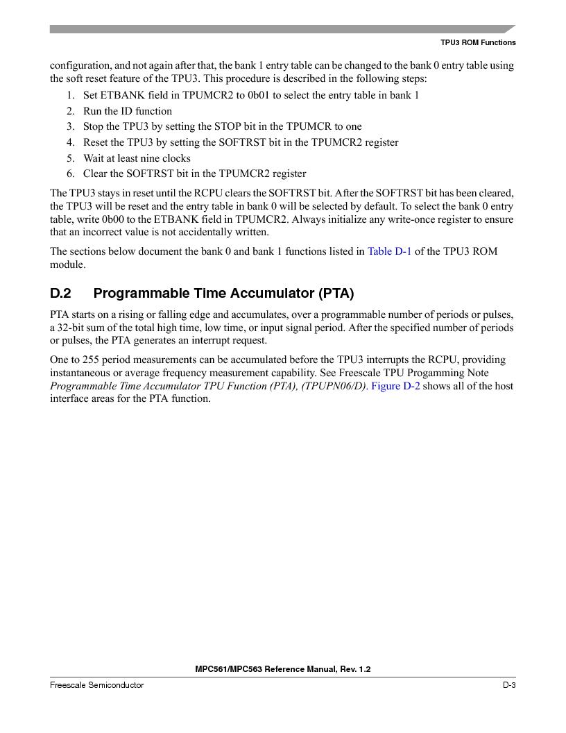 MPC563MZP56 ,Freescale Semiconductor厂商,IC MCU 512K FLASH 56MHZ 388-BGA, MPC563MZP56 datasheet预览  第1155页