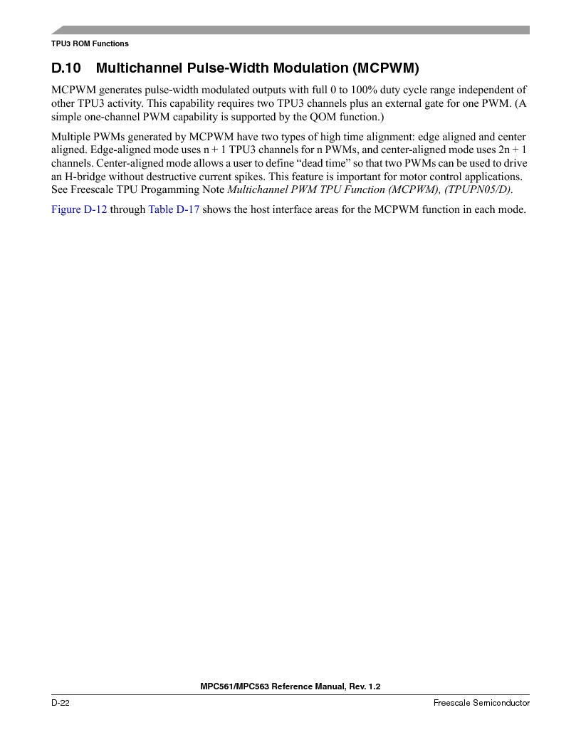 MPC563MZP56 ,Freescale Semiconductor厂商,IC MCU 512K FLASH 56MHZ 388-BGA, MPC563MZP56 datasheet预览  第1174页