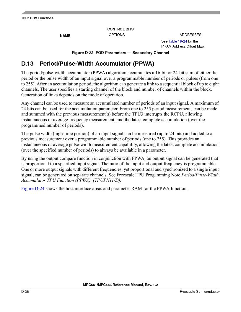MPC563MZP56 ,Freescale Semiconductor厂商,IC MCU 512K FLASH 56MHZ 388-BGA, MPC563MZP56 datasheet预览  第1190页
