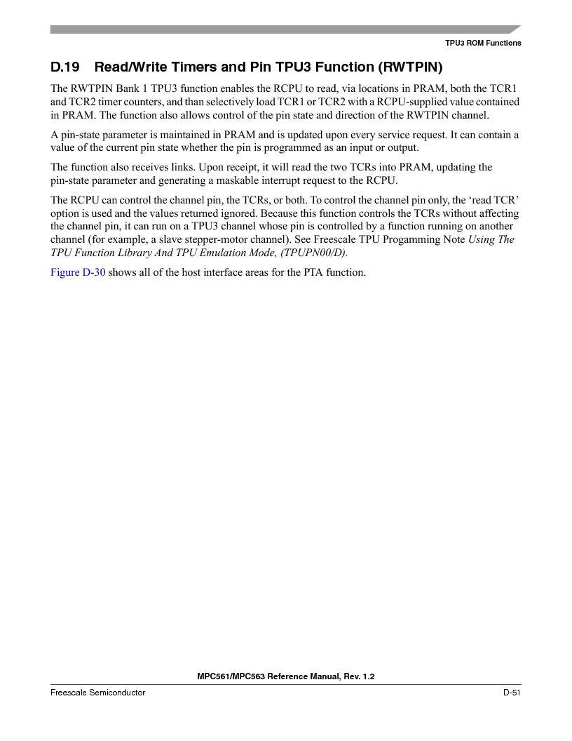 MPC563MZP56 ,Freescale Semiconductor厂商,IC MCU 512K FLASH 56MHZ 388-BGA, MPC563MZP56 datasheet预览  第1203页