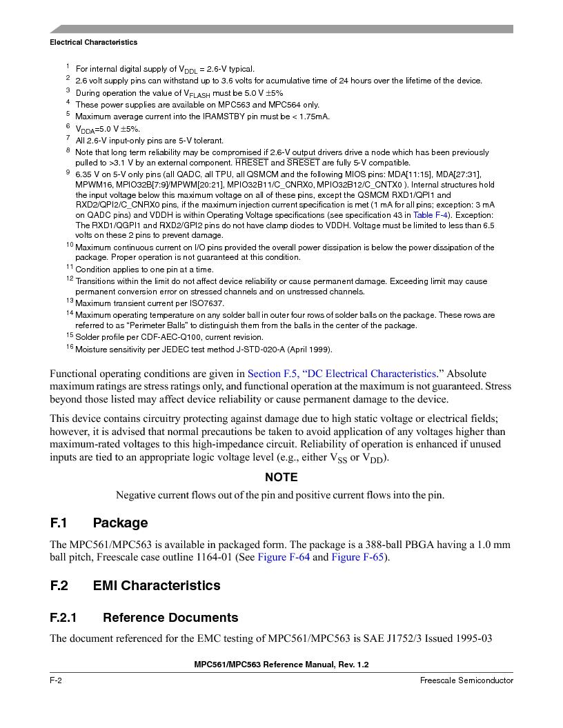 MPC563MZP56 ,Freescale Semiconductor厂商,IC MCU 512K FLASH 56MHZ 388-BGA, MPC563MZP56 datasheet预览  第1218页