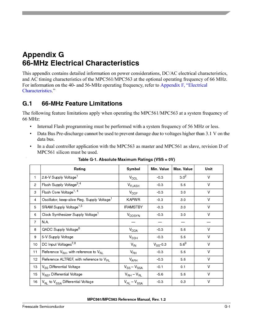 MPC563MZP56 ,Freescale Semiconductor厂商,IC MCU 512K FLASH 56MHZ 388-BGA, MPC563MZP56 datasheet预览  第1307页