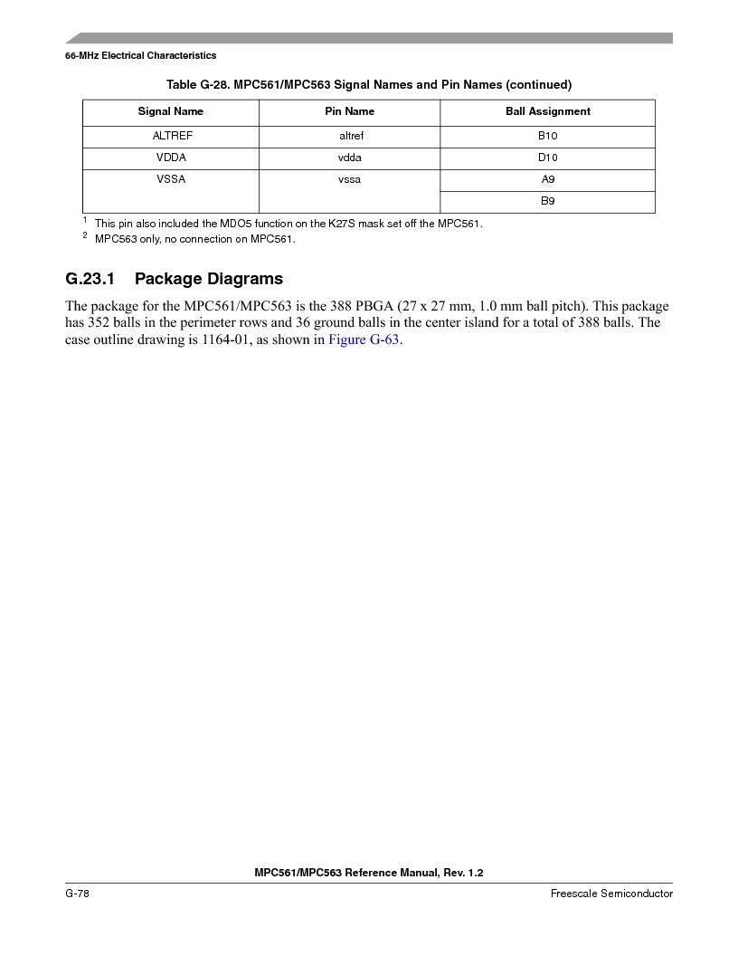 MPC563MZP56 ,Freescale Semiconductor厂商,IC MCU 512K FLASH 56MHZ 388-BGA, MPC563MZP56 datasheet预览  第1384页