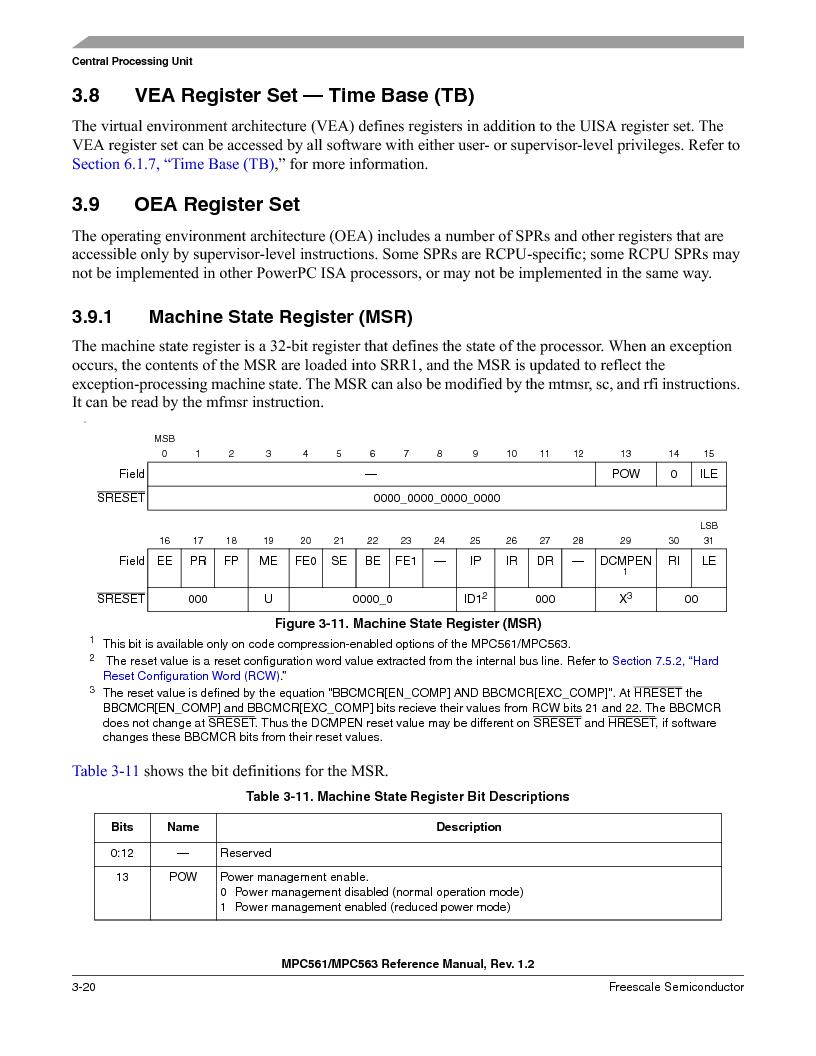 MPC563MZP56 ,Freescale Semiconductor厂商,IC MCU 512K FLASH 56MHZ 388-BGA, MPC563MZP56 datasheet预览  第164页