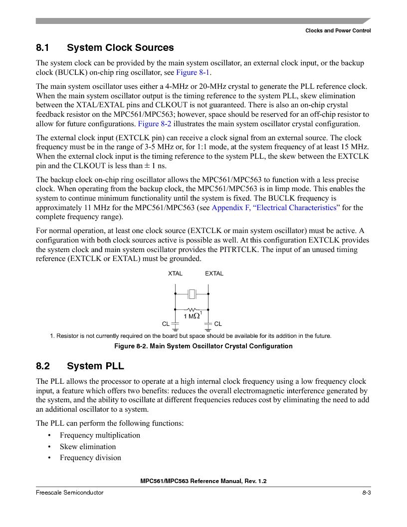 MPC563MZP56 ,Freescale Semiconductor厂商,IC MCU 512K FLASH 56MHZ 388-BGA, MPC563MZP56 datasheet预览  第305页