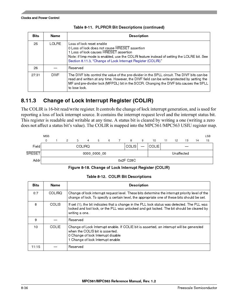 MPC563MZP56 ,Freescale Semiconductor厂商,IC MCU 512K FLASH 56MHZ 388-BGA, MPC563MZP56 datasheet预览  第338页