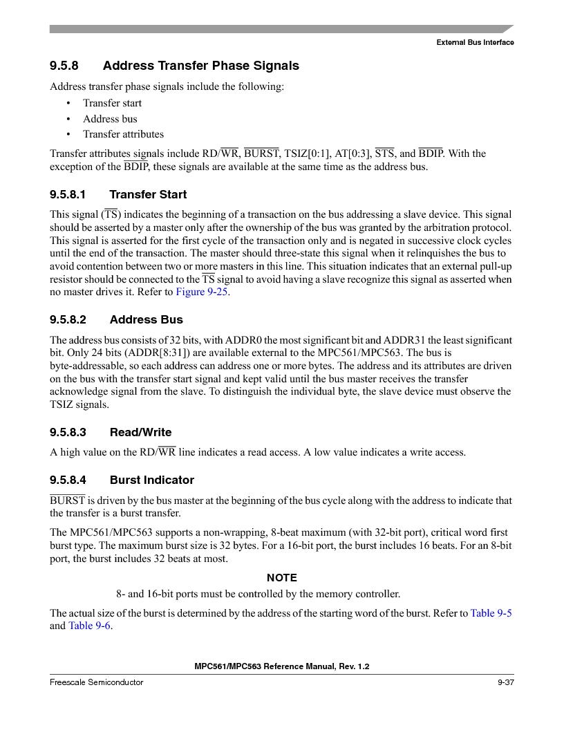 MPC563MZP56 ,Freescale Semiconductor厂商,IC MCU 512K FLASH 56MHZ 388-BGA, MPC563MZP56 datasheet预览  第377页