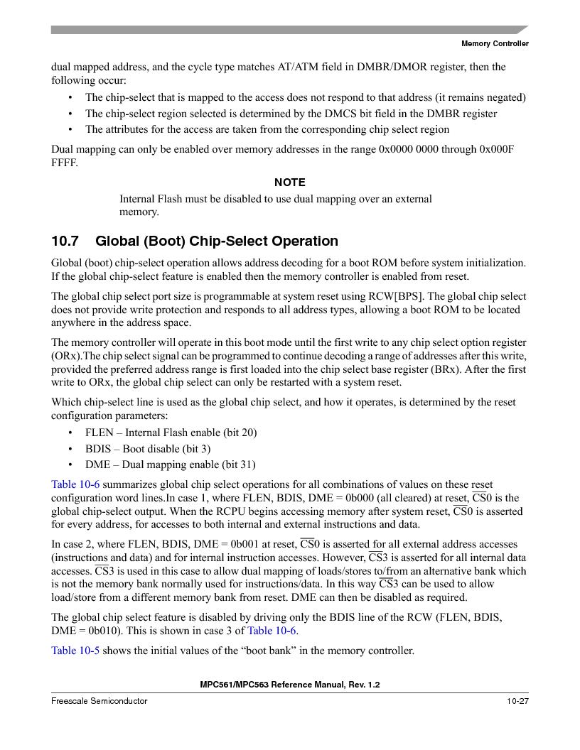 MPC563MZP56 ,Freescale Semiconductor厂商,IC MCU 512K FLASH 56MHZ 388-BGA, MPC563MZP56 datasheet预览  第425页