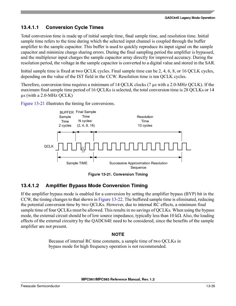 MPC563MZP56 ,Freescale Semiconductor厂商,IC MCU 512K FLASH 56MHZ 388-BGA, MPC563MZP56 datasheet预览  第499页