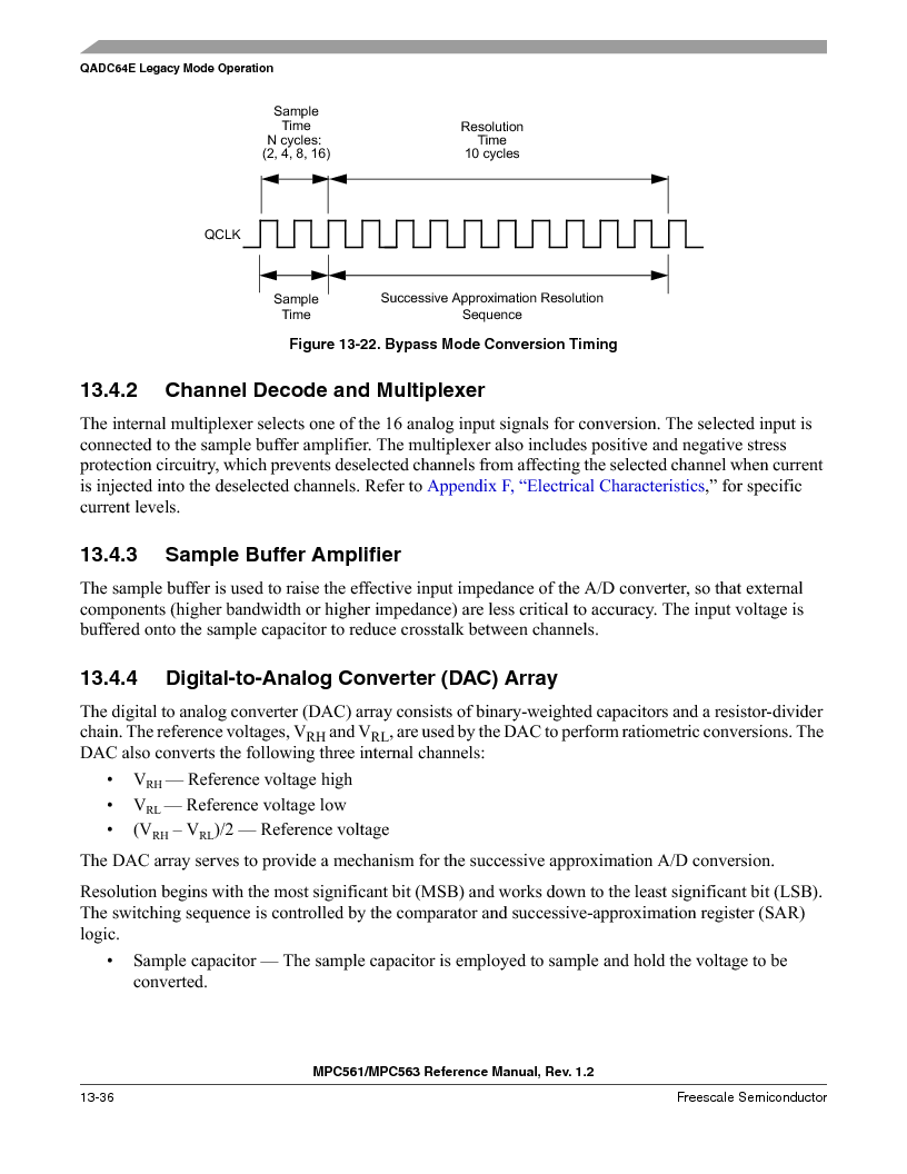 MPC563MZP56 ,Freescale Semiconductor厂商,IC MCU 512K FLASH 56MHZ 388-BGA, MPC563MZP56 datasheet预览  第500页