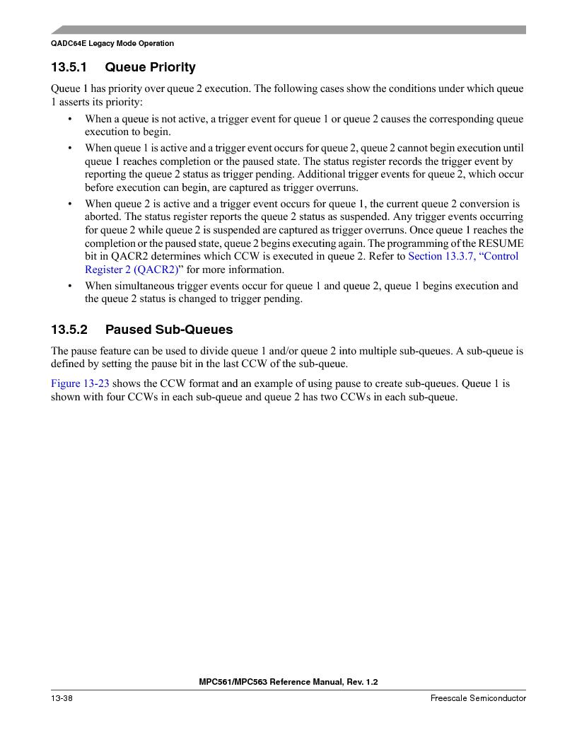 MPC563MZP56 ,Freescale Semiconductor厂商,IC MCU 512K FLASH 56MHZ 388-BGA, MPC563MZP56 datasheet预览  第502页
