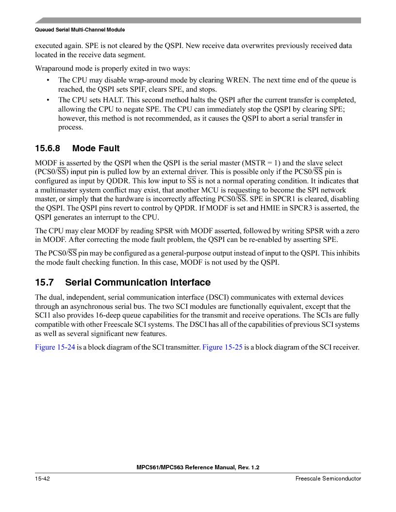 MPC563MZP56 ,Freescale Semiconductor厂商,IC MCU 512K FLASH 56MHZ 388-BGA, MPC563MZP56 datasheet预览  第660页