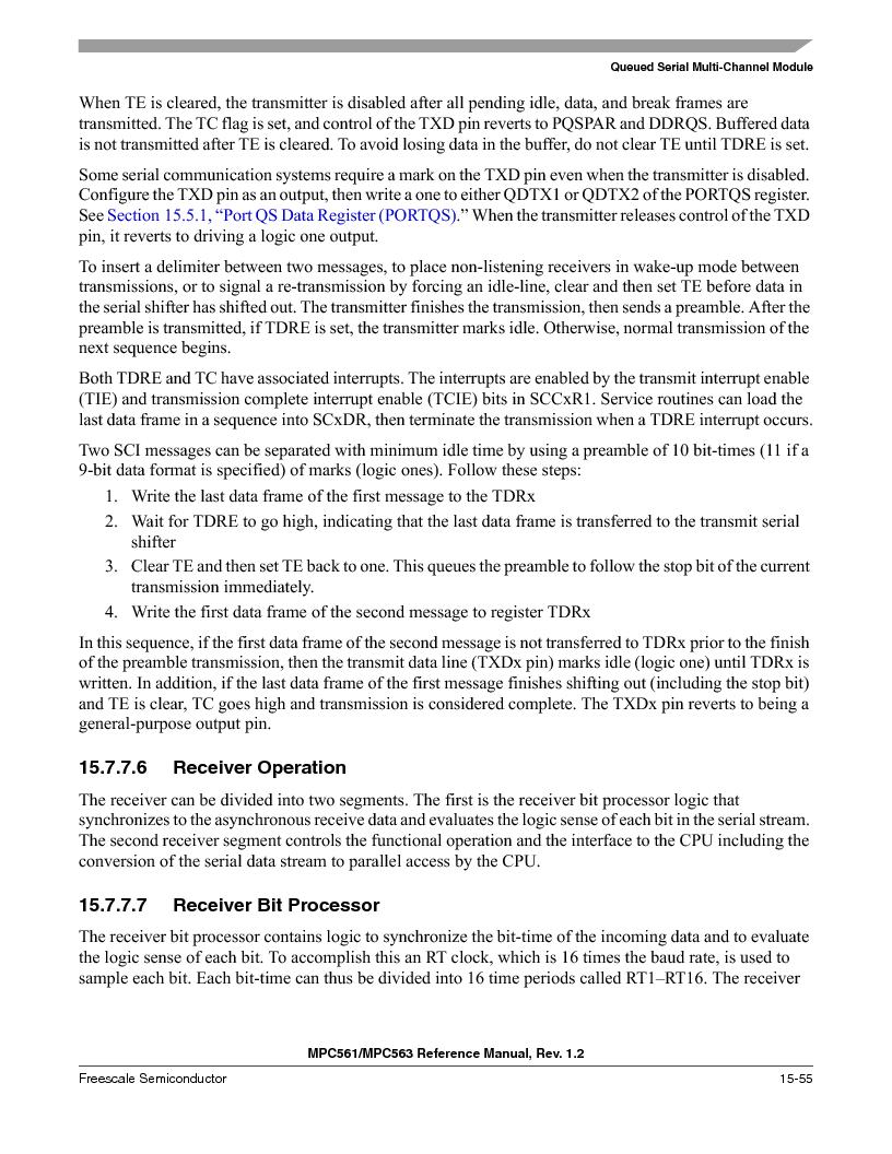 MPC563MZP56 ,Freescale Semiconductor厂商,IC MCU 512K FLASH 56MHZ 388-BGA, MPC563MZP56 datasheet预览  第673页