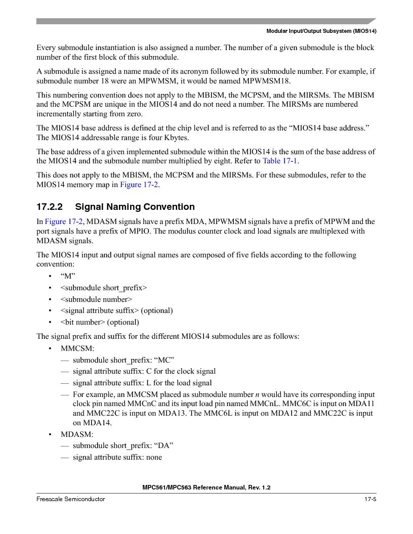 MPC563MZP56 ,Freescale Semiconductor厂商,IC MCU 512K FLASH 56MHZ 388-BGA, MPC563MZP56 datasheet预览  第737页
