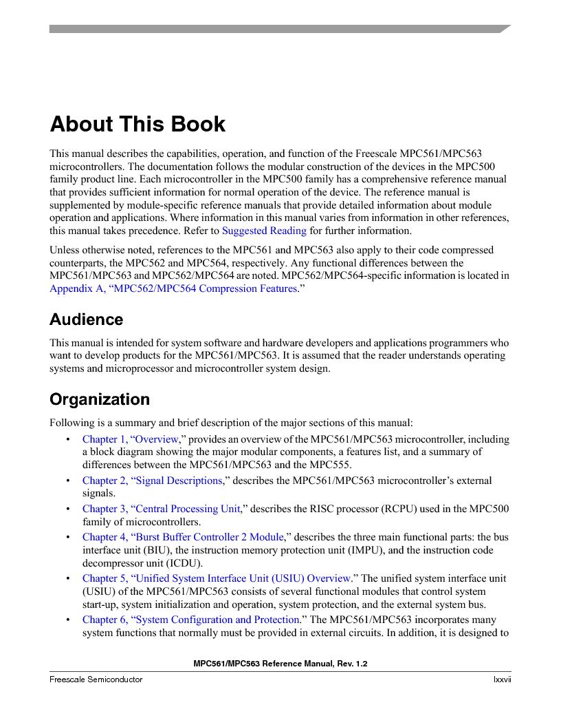 MPC563MZP56 ,Freescale Semiconductor厂商,IC MCU 512K FLASH 56MHZ 388-BGA, MPC563MZP56 datasheet预览  第77页