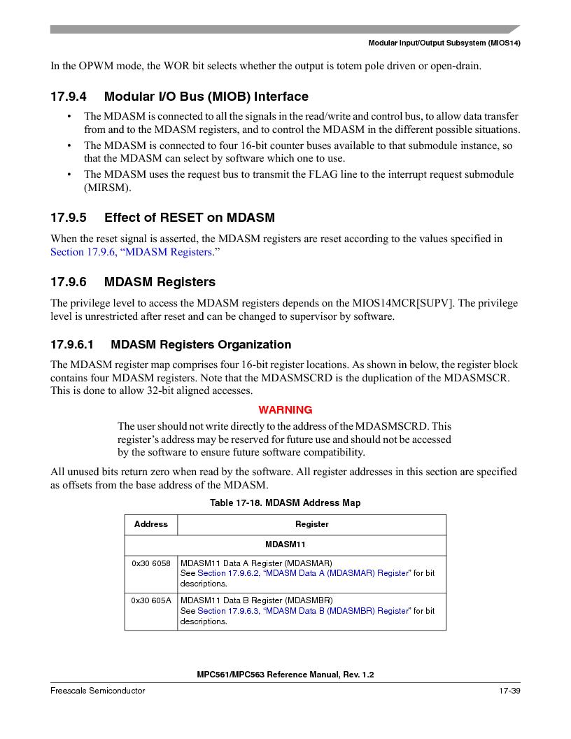 MPC563MZP56 ,Freescale Semiconductor厂商,IC MCU 512K FLASH 56MHZ 388-BGA, MPC563MZP56 datasheet预览  第771页