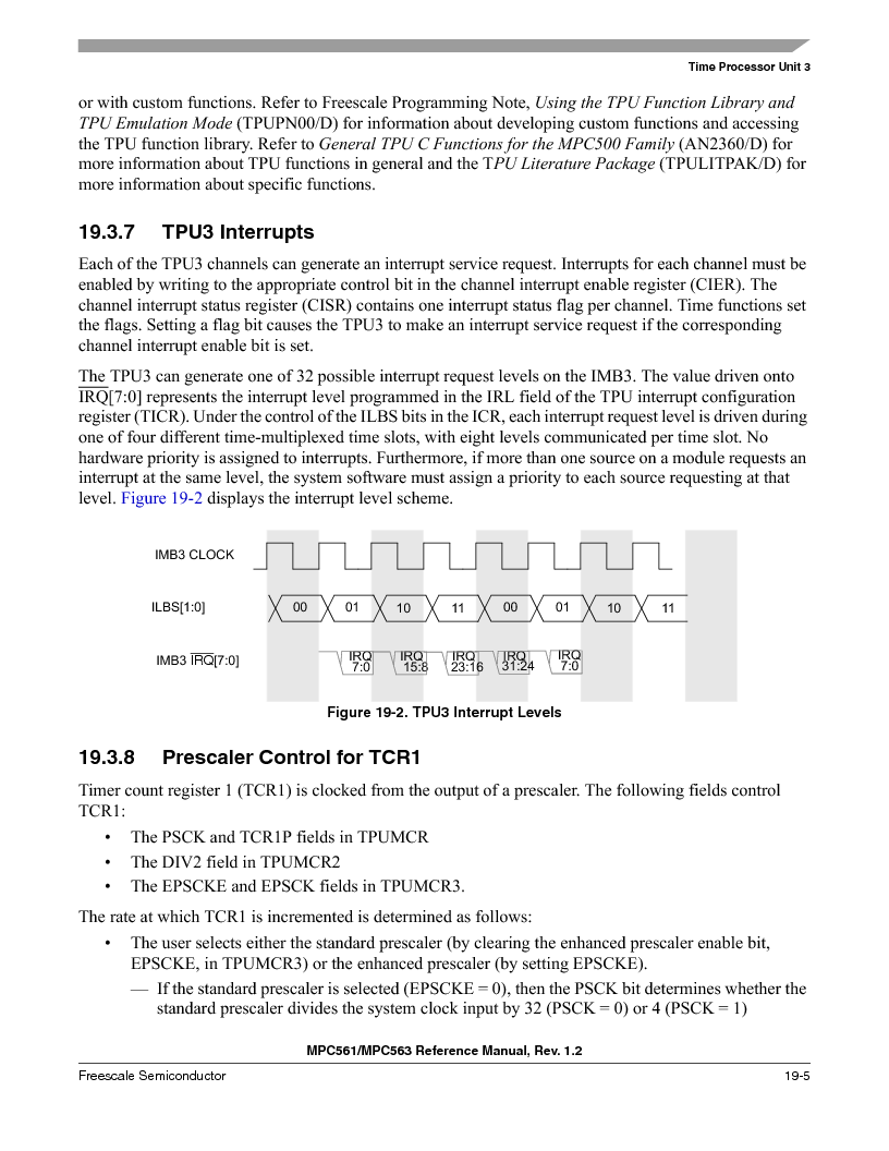 MPC563MZP56 ,Freescale Semiconductor厂商,IC MCU 512K FLASH 56MHZ 388-BGA, MPC563MZP56 datasheet预览  第835页