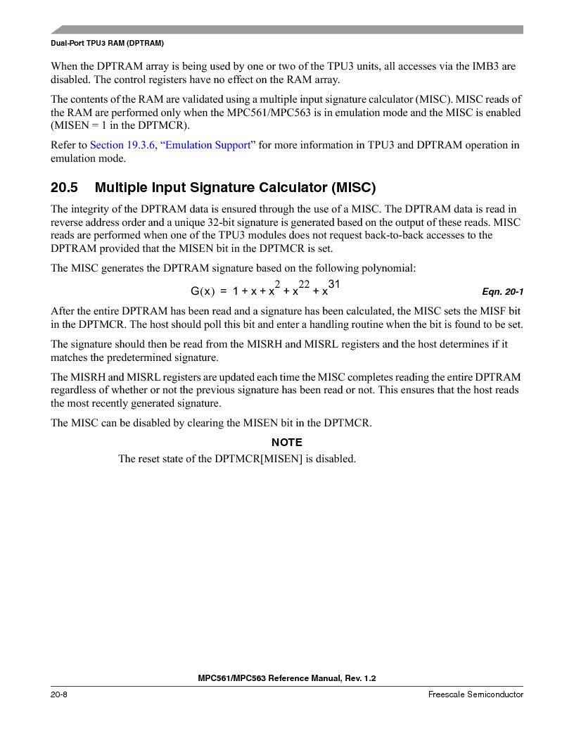 MPC563MZP56 ,Freescale Semiconductor厂商,IC MCU 512K FLASH 56MHZ 388-BGA, MPC563MZP56 datasheet预览  第862页
