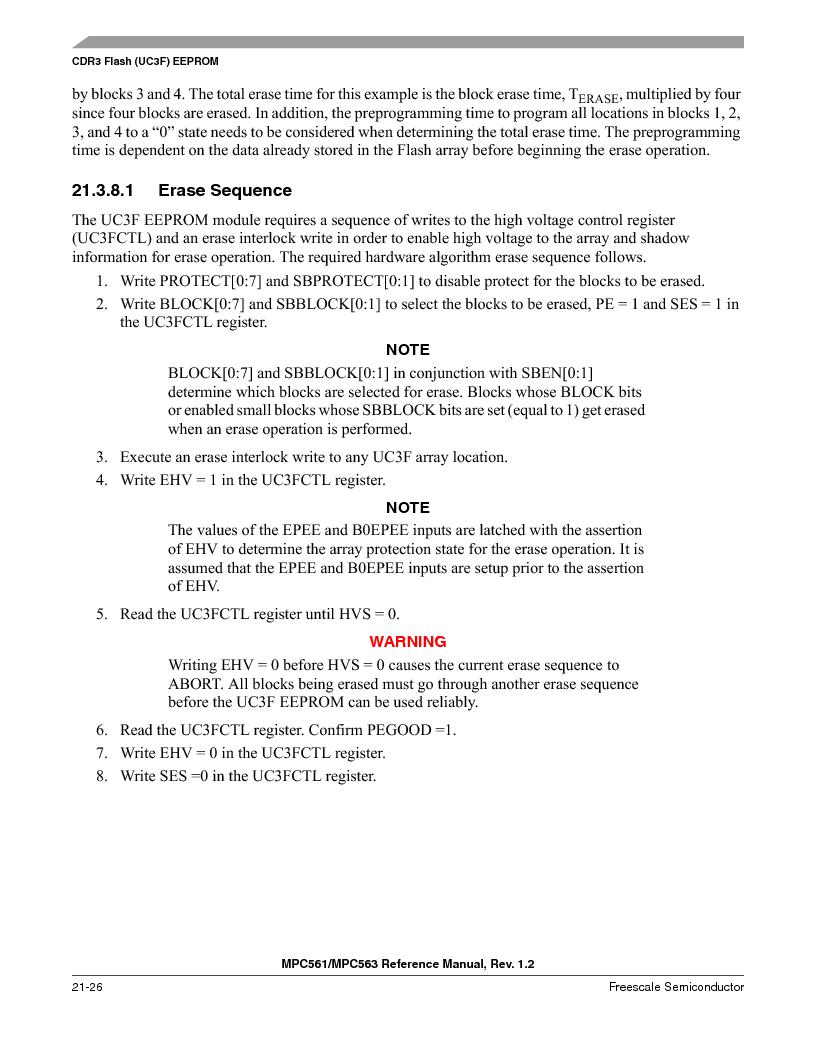 MPC563MZP56 ,Freescale Semiconductor厂商,IC MCU 512K FLASH 56MHZ 388-BGA, MPC563MZP56 datasheet预览  第888页