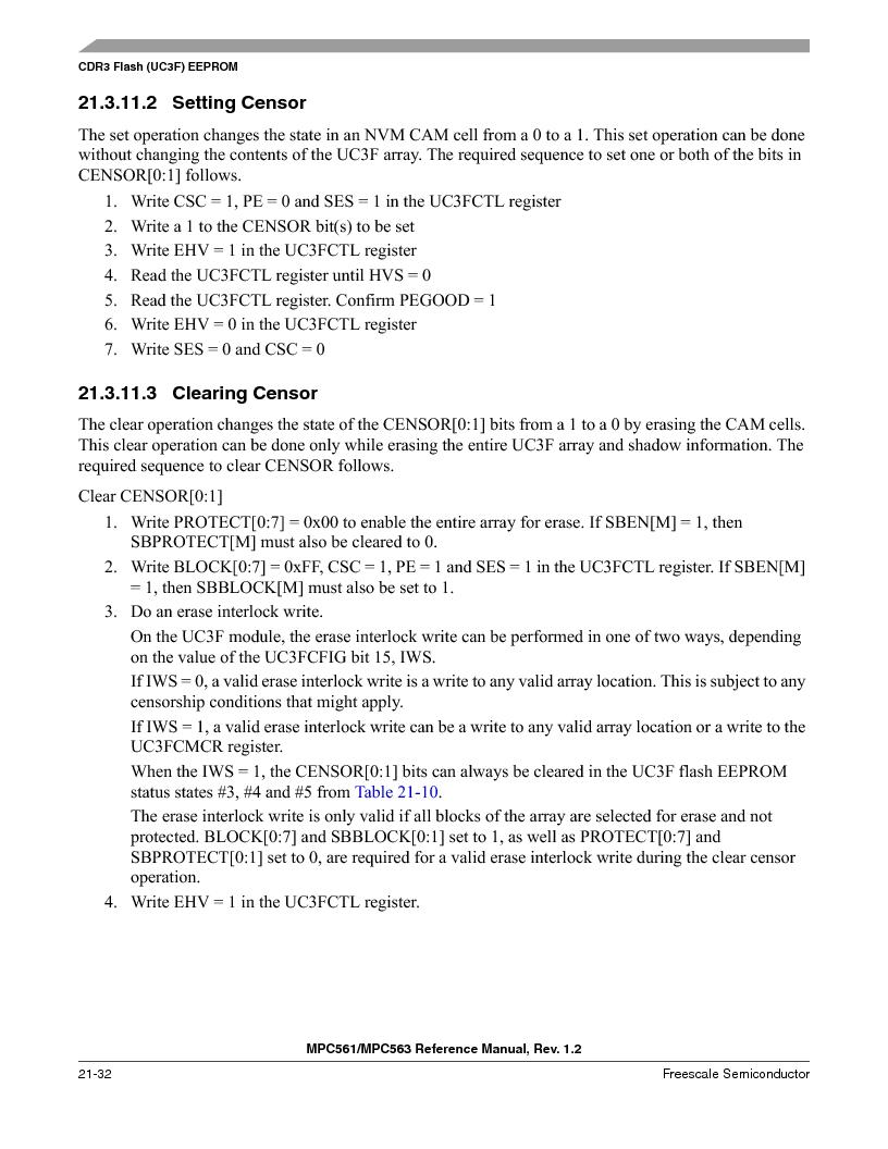 MPC563MZP56 ,Freescale Semiconductor厂商,IC MCU 512K FLASH 56MHZ 388-BGA, MPC563MZP56 datasheet预览  第894页