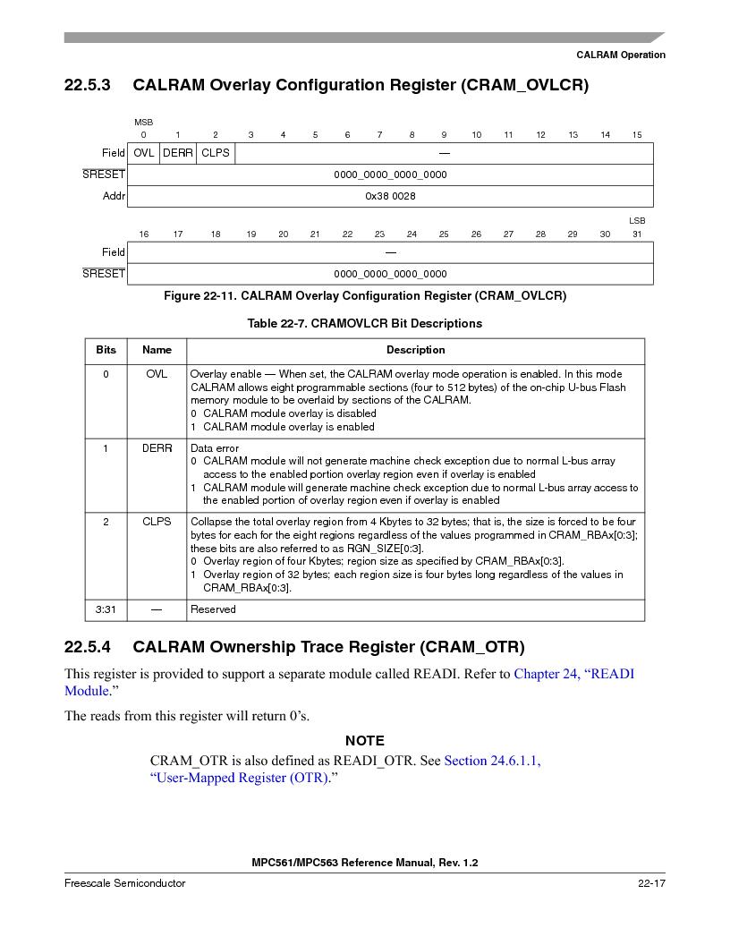 MPC563MZP56 ,Freescale Semiconductor厂商,IC MCU 512K FLASH 56MHZ 388-BGA, MPC563MZP56 datasheet预览  第913页