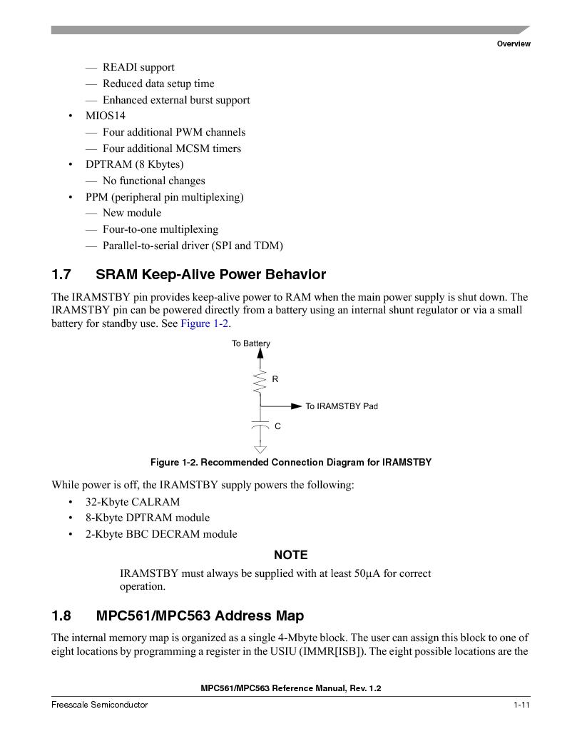 MPC563MZP56 ,Freescale Semiconductor厂商,IC MCU 512K FLASH 56MHZ 388-BGA, MPC563MZP56 datasheet预览  第95页
