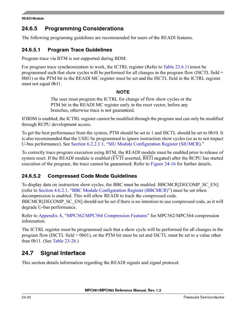 MPC563MZP56 ,Freescale Semiconductor厂商,IC MCU 512K FLASH 56MHZ 388-BGA, MPC563MZP56 datasheet预览  第988页