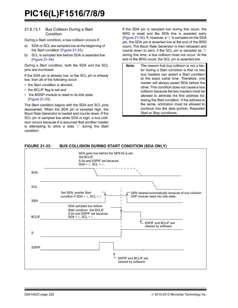 PIC16F1516-E/MV ,Microchip Technology厂商,MCU 14KB FLASH 512B RAM 28-UQFN, PIC16F1516-E/MV datasheet预览  第220页