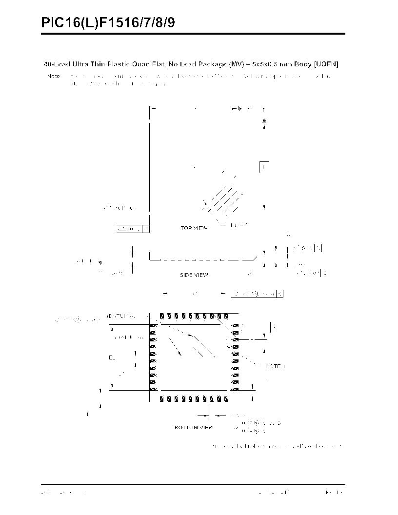 PIC16F1516-E/MV ,Microchip Technology厂商,MCU 14KB FLASH 512B RAM 28-UQFN, PIC16F1516-E/MV datasheet预览  第358页